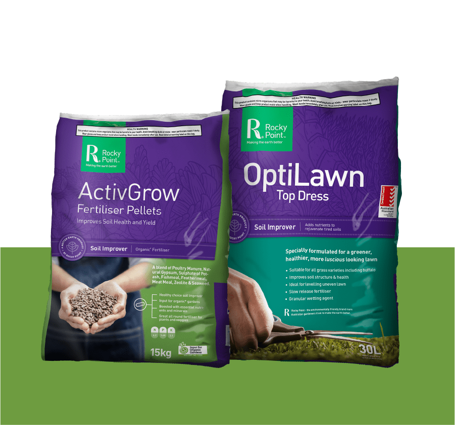 ActivGrow pellets and optilawn