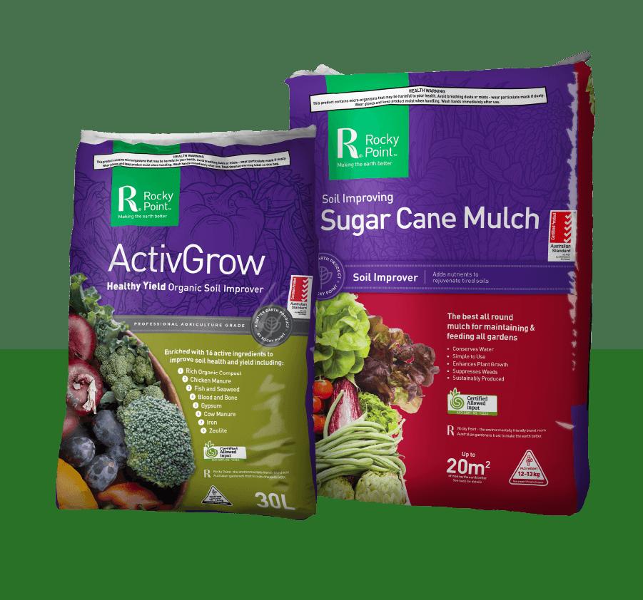 ActivGrow and sugar cane mulch