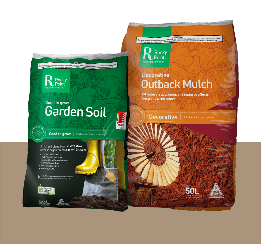 garden soil and outback mulch